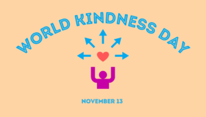 "a person with a heart and the text ""world kindness day"""
