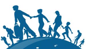 people walking on the globe